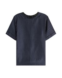 Rag & Bone | Blue Rudy Printed Silk Top - Dots | Lyst
