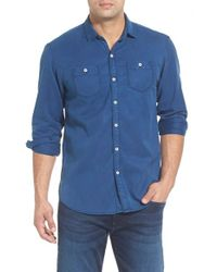 Tommy Bahama | Blue 'sea Twill' Island Modern Fit Flannel Shirt for Men | Lyst