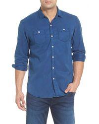 Tommy Bahama - Blue 'sea Twill' Island Modern Fit Flannel Shirt for Men - Lyst