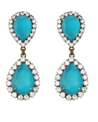 Loren Hope | Green Abba Earrings, Lagoon | Lyst