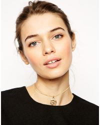 ASOS - Metallic Aum Symbol Choker Necklace - Lyst