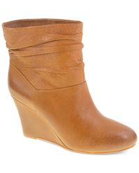 Chinese Laundry | Brown Ubet Slouchy Wedge Booties | Lyst