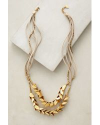 Serefina | Metallic Olea Necklace | Lyst
