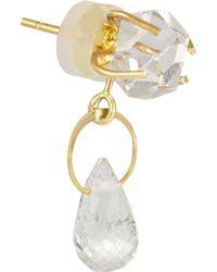 Melissa Joy Manning - Metallic 14-Karat Gold, Herkimer Diamond And Topaz Earrings - Lyst
