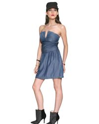 DIESEL - Blue Tencel Light Wash Fluid Denim Dress - Lyst