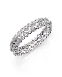 Adriana Orsini | Metallic Teardrop Bangle Bracelet/silvertone | Lyst