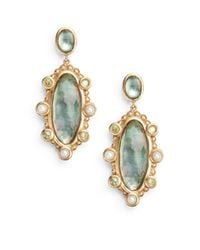 Stephen Dweck | Green 2.5mm Pearl, Peridot & Mother-of-pearl Doublet Drop Earrings | Lyst