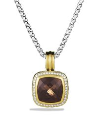 David Yurman | Metallic Albion Pendant With Smoky Quartz & Diamonds | Lyst