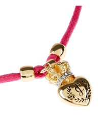 Juicy Couture | Pink Duchess Crest Heart Cord Bracelet | Lyst