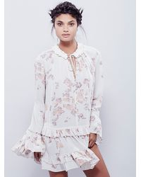 Free People - White Clover Field Printed Tunic - Lyst