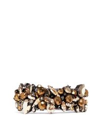 Erickson Beamon | Metallic 'golden Rule' Crystal Cluster Bangle | Lyst