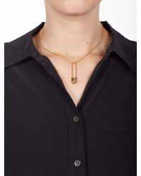 Equipment - Metallic Tom Binns Gold Safety Pin Pendant Necklace - Lyst