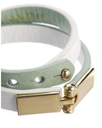 Whistles | Green Leather Double Wrap Bracelet | Lyst