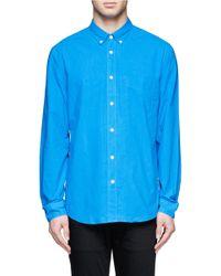 Acne Studios | Blue Cotton Shirt for Men | Lyst