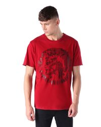 DIESEL | Red T-mirey for Men | Lyst