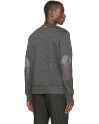Moncler Gamme Bleu - Gray Grey Speckled Pullover for Men - Lyst
