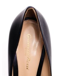 Gianvito Rossi - Blue Point Toe Leather Pumps - Lyst
