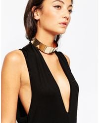 ALDO - Metallic Crotonea Gold Metal Choker Necklace - Lyst