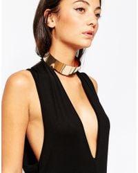 ALDO | Metallic Crotonea Gold Metal Choker Necklace | Lyst