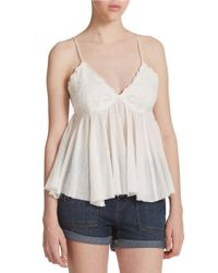 Free People | Natural Birds In The Sky Tank Top | Lyst