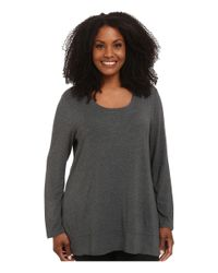 Lyssé | Gray Plus Size Scoop Drape Top | Lyst