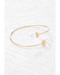 Forever 21 - Metallic Faux Stone Curve Bangle - Lyst