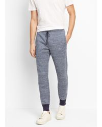 Vince | Blue Double-faced Knit Track Pant for Men | Lyst