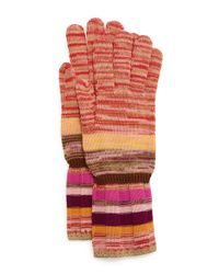 Missoni - Multicolor Striped Space-dye Knit Gloves - Lyst