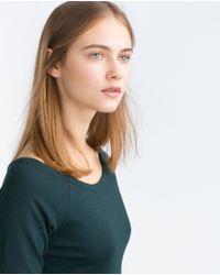 Zara   Green Long Tube Dress   Lyst