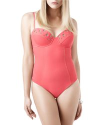 Miraclesuit   Pink Holy Moley Bust A Move One-piece Swimsuit   Lyst