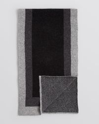 Bloomingdale's - Black Frame Scarf for Men - Lyst