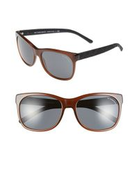 Burberry - Brown 58mm Sunglasses - Lyst