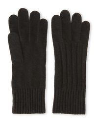 Portolano | Black Cashmere Blend Knit Gloves for Men | Lyst