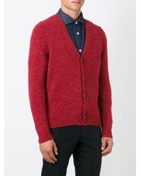 Eleventy | Red V-neck Cardigan for Men | Lyst