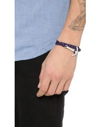 Miansai - Blue Modern Anchor Wrap Bracelet for Men - Lyst