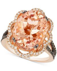 Le Vian - Metallic Morganite (7 Ct. T.w.) And Diamond (3/4 Ct. T.w.) Ring In 14k Rose Gold - Lyst