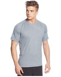 Nike | Gray Miler Printed Dri-fit T-shirt for Men | Lyst