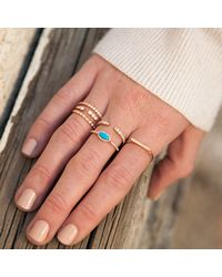 Anne Sisteron - Blue 14kt Rose Gold Diamond Turquoise Mini Marquis Ring - Lyst