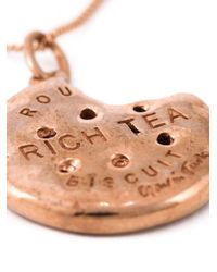 True Rocks | Pink 'Gavin Turk Bitten Biscuit' Necklace | Lyst