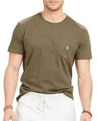 Polo Ralph Lauren | Natural Jersey Pocket Tee for Men | Lyst