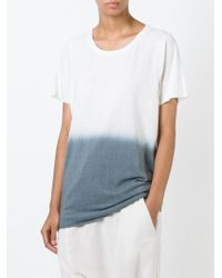 Bliss and Mischief - White Dip Dye T-shirt - Lyst