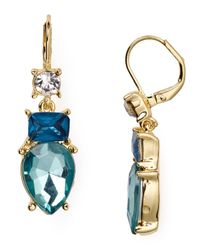 ABS By Allen Schwartz | Blue Double Drop Earrings | Lyst
