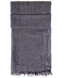 BOSS Orange - Purple Scarf 'nelvis' In Viscose And Linen for Men - Lyst