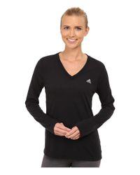Adidas | Black Ultimate Long Sleeve Tee | Lyst