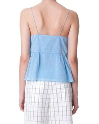 Tibi | Blue Summer Space Dyed Ruffle Cami | Lyst
