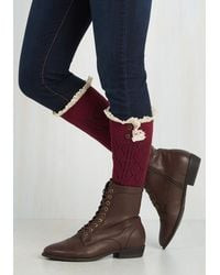 Ana Accessories Inc | Red Overheard In Williamsburg Boot Cuffs In Burgundy | Lyst