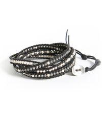 Michael Stars | Metallic Chan Luu Silver Mix Wrap Bracelet | Lyst