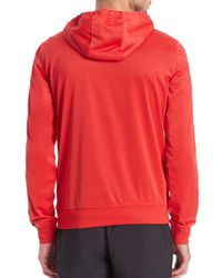 EA7 - Red 7 Logo Hooded Sweatshirt for Men - Lyst