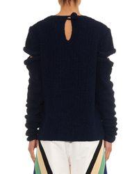 Rosie Assoulin | Blue Cut-out Hand-knitted Silk Sweater | Lyst