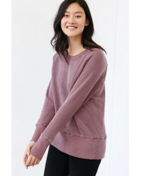 Truly Madly Deeply | Purple Piper Button-back Pullover Sweatshirt | Lyst